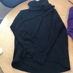 Old Navy hooded thermal high low long sleeve shirt